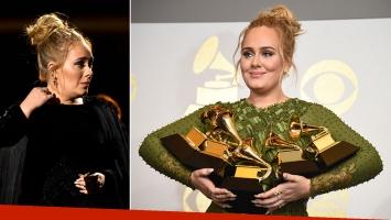 Adele arrasó en los premios Grammy, pero hizo un papelón en el homenaje a George Michael