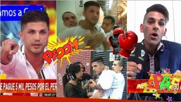 Rodrigo Díaz se peleó con un amigo en las puertas de América al que acusó de robarle su perro
