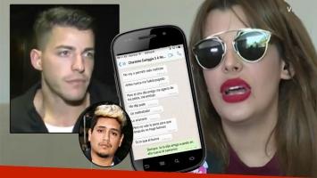 Filtran supuestos chats de Charlotte Caniggia acusando a Loan de golpearla (Foto: web y Twitter)