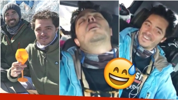 La divertida broma de Nacho Viale a su amigo en sus vacaciones en Aspen (Fotos: Instagram y Captura)