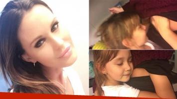 El tierno video de la hija de Natalie Weber hablándole a la panza de su mamá