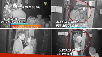 El video de la pelea entre Alexander Caniggia y Loan por Charlotte dentro de un boliche de Carlos Paz