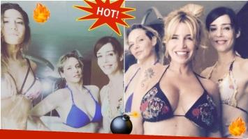 Jimena Barón, Gabriela Toscano, Paola Krum y Florencia Peña, incendiaron Instagram con una foto en bikini (Fotos: Instagram)