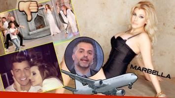 Charlotte Caniggia se vuelve a Marbella sin Loan (Foto: Captura y Web)