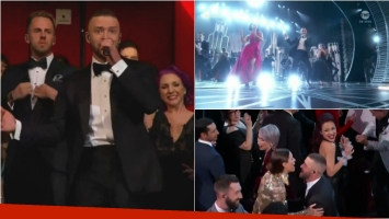 Justin Timberlake bailó y cantó en la apertura de los Premios Oscar 2017. Foto: Captura