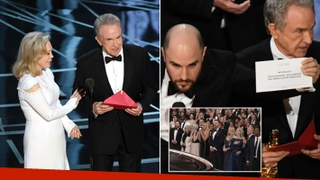 El motivo del papelón de la entrega de los Oscars y cuánto tardaron en darse cuenta. Fotos: Web.
