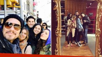 El viaje de Marcelo con sus cuatro hijos mayores a Nueva York. (Fotos: Instagram)