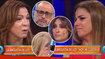 El llanto de Lizy Tagliani (Foto: web)