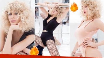 La producción sexy de Guillermina Valdés con look ochentoso (Fotos: Instagram)