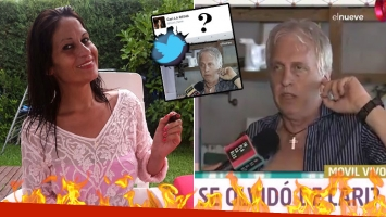 Carinara disparó un fulminante tweet contra Andrés Nara mientras hacía un móvil... ¡y después lo borró!