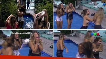 Despedida de Solteros: el descontrolado festejo de las chicas en la pileta, ¡con topless incluido!