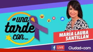 María Laura Santillán estará en #UnaTardeCon en el Día de la Mujer.