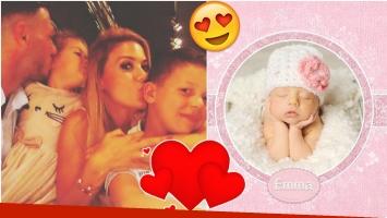 Evangelina Anderson presentó a Emma, su tercera hija (Fotos: Instagram)