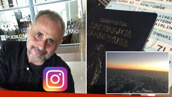 Jorge Rial voló rumbo a Estados Unidos. Foto: Instagram.