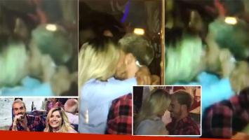 Fede Bal y Laurita Fernández, besándose apasionadamente (Fotos: Crónica TV)