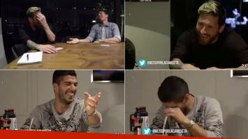 La confesión íntima de Messi, muy divertido con Luis Suárez. (Fotos: Por la camiseta)