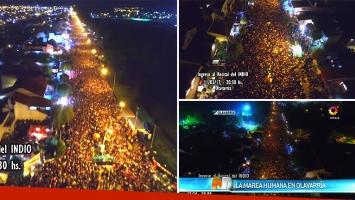 El video con la impresionante toma área de la marea humana que fue a ver al Indio Solari a Olavarría