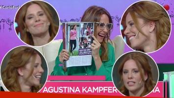 Las caras de Agustina Kämpfer mientras Verónica Lozano hacía pícaros comentarios sobre su embarazo