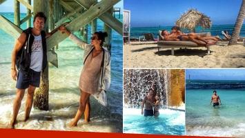 Nicolás Vázquez y Gimena Accardi, de vacaciones en Bahamas (Foto: Instagram)
