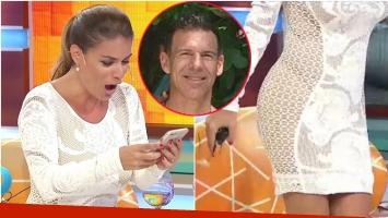El divertido reproche en vivo del novio de Marina Calabró al verla con un vestido que le regaló (Fotos: Captura y Ciudad.com)