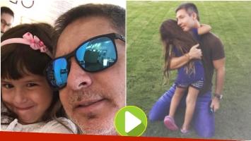 Los tiernos videos de Adrián Suar con su hija Margarita (Fotos: Instagram)