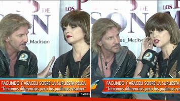 Arana y Araceli González hablaron de los rumores de pelea