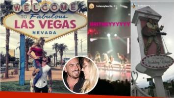 Laurita Fernández y Fede Bal fueron a ver un show de Britney Spears en Las Vegas
