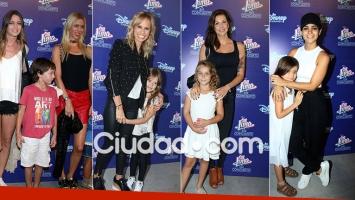 Las famosas disfrutaron con sus hijos el show de Soy Luna (Fotos: Movilpress)
