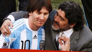 Diego Maradona se desligó de la sanción a Lionel Messi