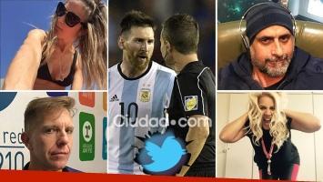 Los famosos lamentaron la sanción a Messi en la Selección desde Twitter. (Foto: AFP e Instagram)