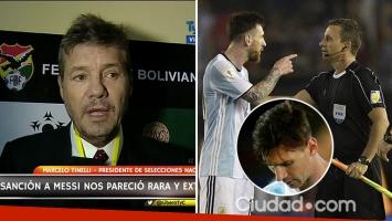 Marcelo Tinelli habló sobre la reacción de Lionel Messi tras recibir la sanción de cuatro fechas