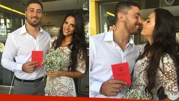 Se casaron Javier Ortega Desio y Belu Lucius. (Foto: Instagram)