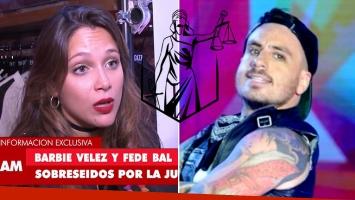 Barbie Vélez ¿pone punto final a su causa contra Fede Bal?