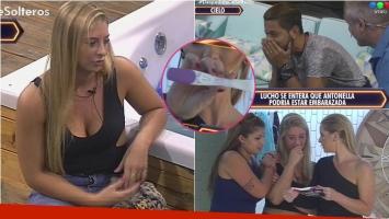 Antonella se hizo un test de embarazo en vivo en Despedida de solteros