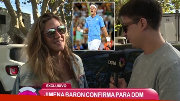 Jimena Barón confirmó su romance con Del Potro en El Diario de Mariana.