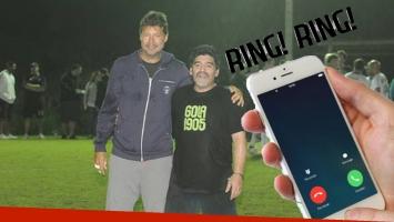 Tinelli y Maradona.