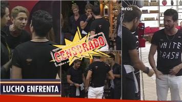 La escandalosa pelea de Lucho y Pablo en Despedida de solteros. Foto: Captura