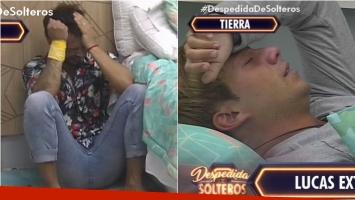 Mientras Facundo lloraba en Despedida de solteros por un error en el juego, Lucas se quebraba por extrañar a su familia. Foto: Captura