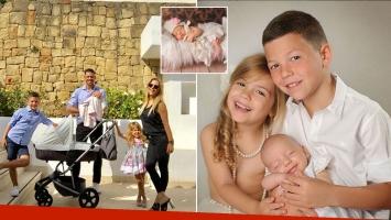 La producción de fotos de los hijos de Evangelina Anderson y Martín Demichelis en Instagram.