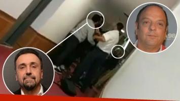 El video de la pelea a piñas de Baby Etchecopar y Roberto Navarro