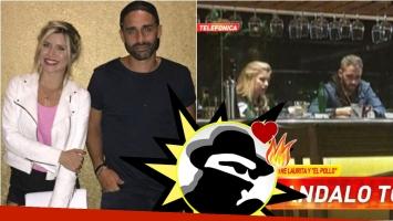 ¿Laurita Fernández y el Pollo Álvarez, mimosos en un restaurante? Su palabra en Infama. Foto: Captura