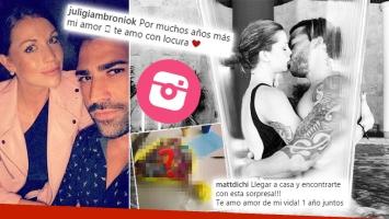 ¡Cuánta pasión! Juliana Giambroni y su novio celebraron su primer aniversario