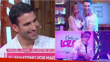 Miguel Ángel Silvestre, el galán de Velvet, bailó con Vero y Connie Ansaldi en Cortá por Lozano. Foto: Captura