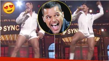Mirá el baile súper sexy de Ricky Martin... ¡en calzoncillos y camisa! (Fotos: Captura)