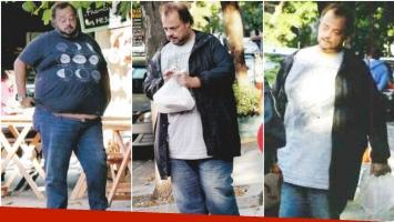 La nueva vida de Cabito tras bajar 47 kilos luego de someterse a un bypass gástrico (Fotos: revista Paparazzi)