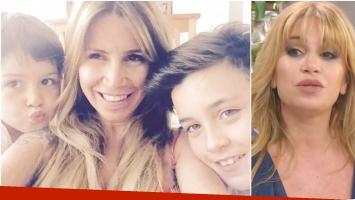 Florencia Peña reveló una reflexiva conversación que mantuvo con su hijo menor (Fotos: Instagram y Captura)