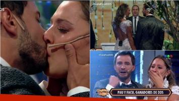 Paula y Facundo son los ganadores de Despedida de solteros y se casaron en vivo