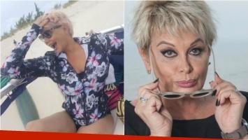 Los seguidores de Carmen Barbieri la acusaron de usar Photoshop en la imagen para verse más delgada. Foto: Twitter