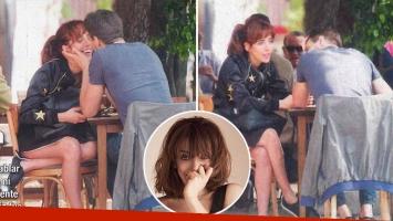 ¡Piedra libre! Paula Kohan, a los besos con un nuevo novio en un restó de Palermo: