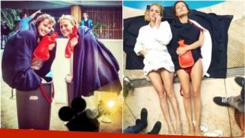Las primeras fotos de Pampita y Mónica Antonópulos en el backstage de Desearás... al hombre de tu hermana (Fotos: Instagram e Instagram Stories)